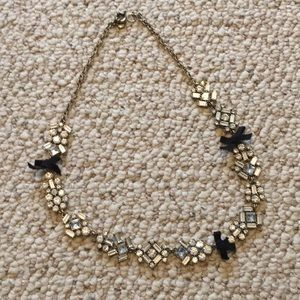 Jcrew rhinestone and bow necklace